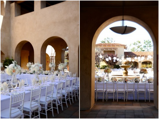 serra plaza lilac+white reception